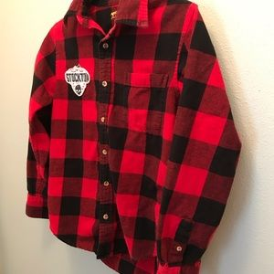 Arizona Jean Company Shirts & Tops - Buffalo Plaid Boys Long Sleeve